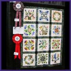 2nd Place Med./Small  Appliqué